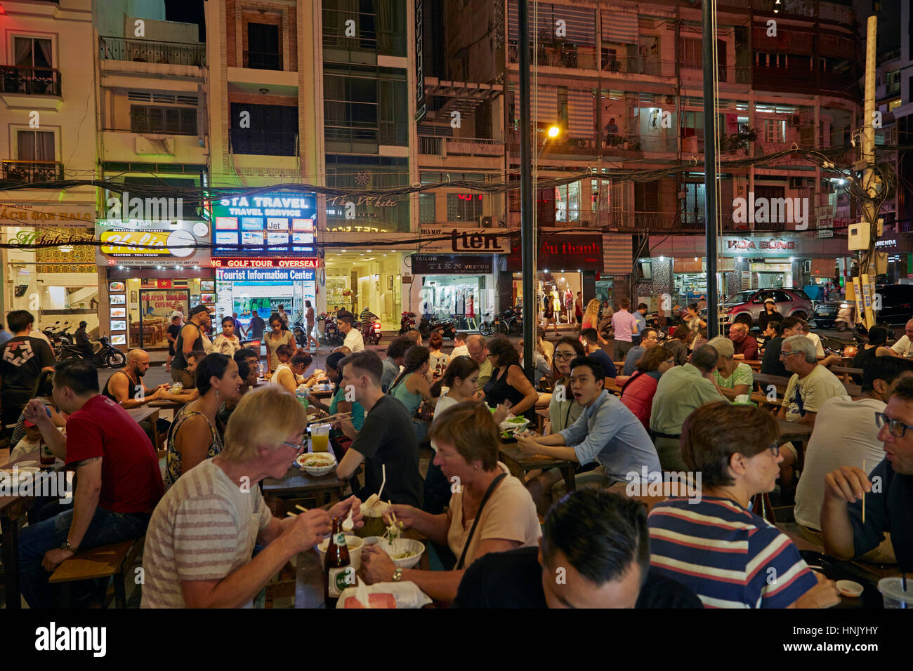 Ben Thanh Street Food Market, Ho Chi Minh City (Saigon), Vietnam - Stock Image