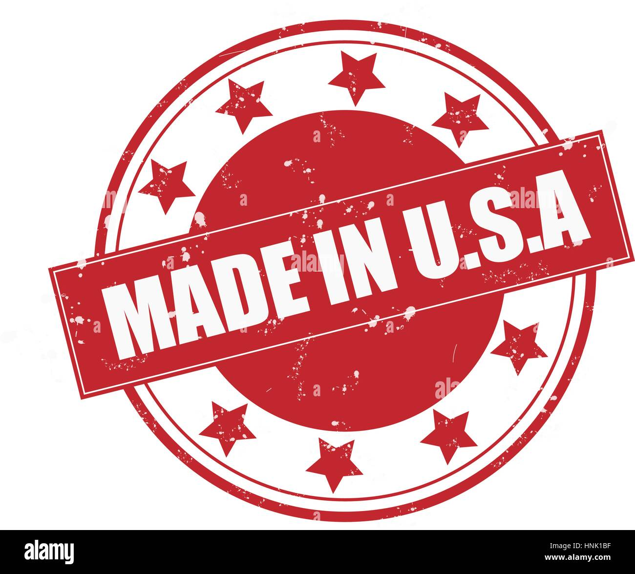 Made in U.S.A rubber stamp - Stock Vector