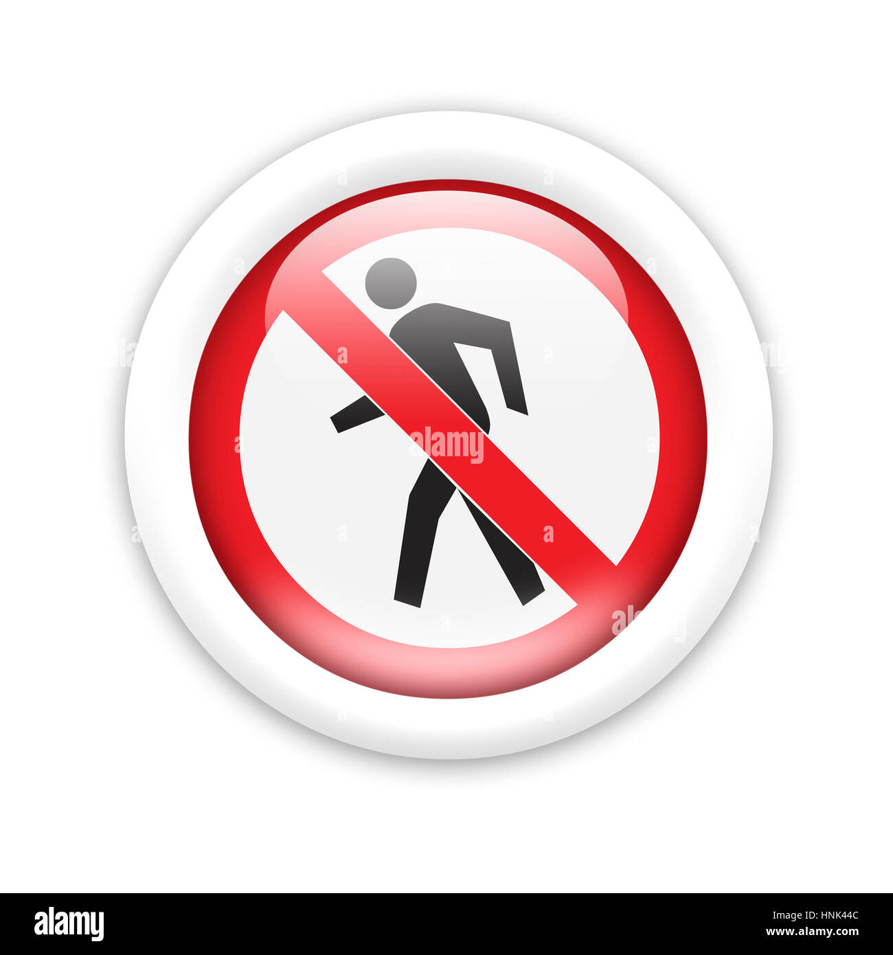 No pedestrians - road sign - Stock Image