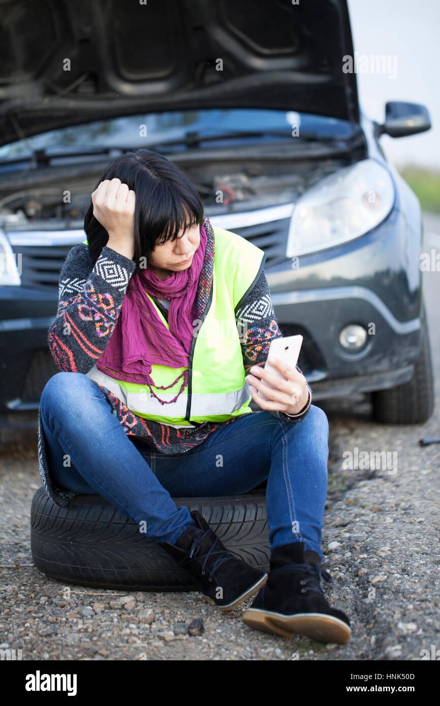 Car Broke Down >> Woman Car Broke Down Stock Photos Woman Car Broke Down Stock