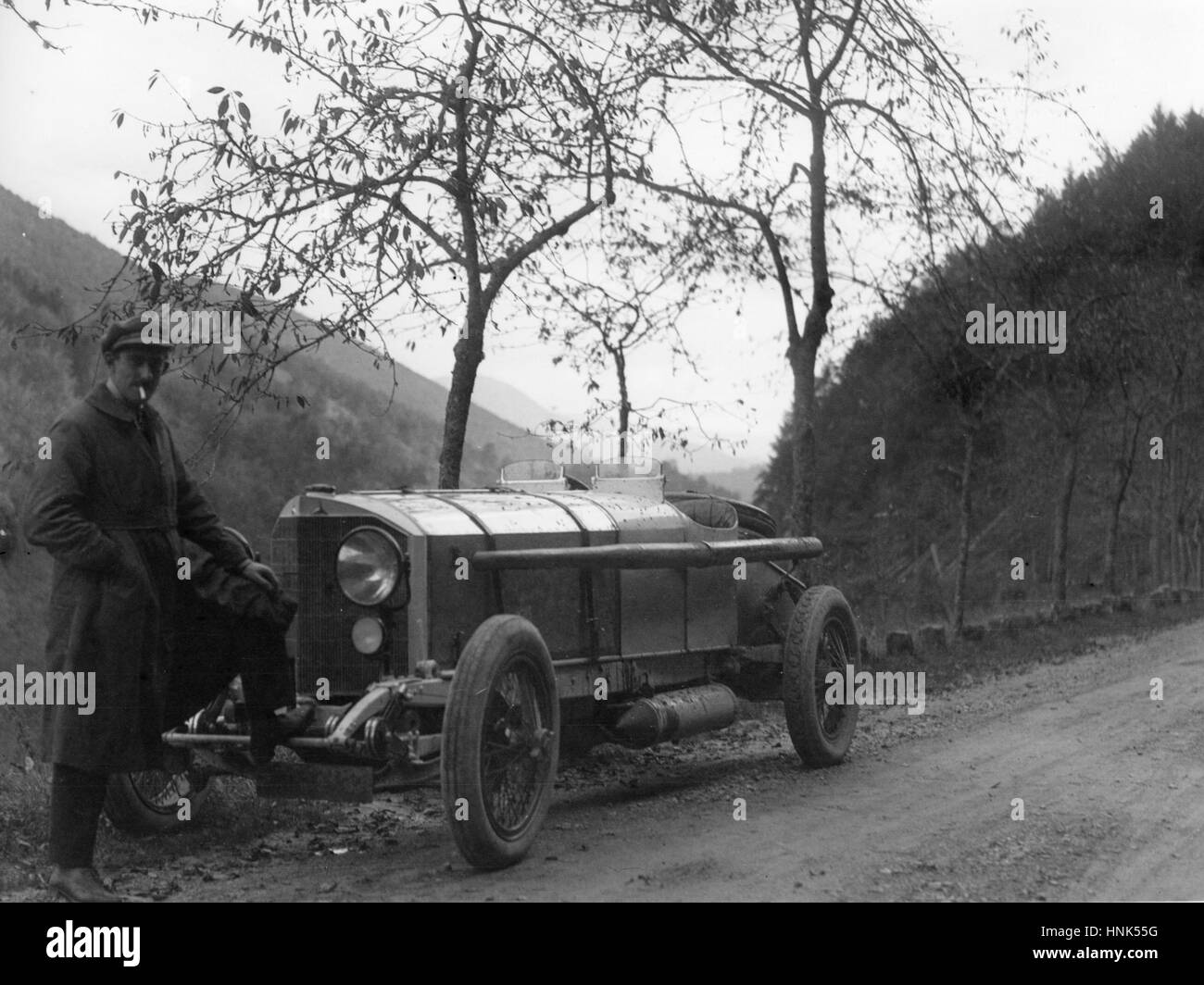 Count Louis Zborowski with Chitty Bang Bang III - Stock Image