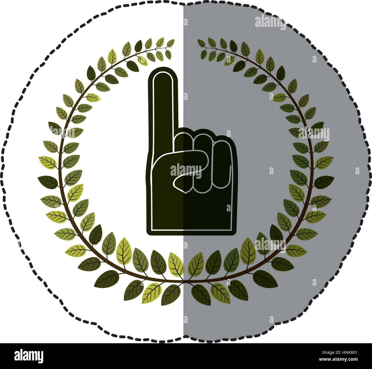 Emblem Hand You Are Here Symbol Icon Vector Illustration Stock