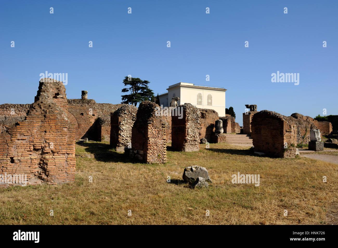 italy, rome, palatine hill, domus flavia Stock Photo