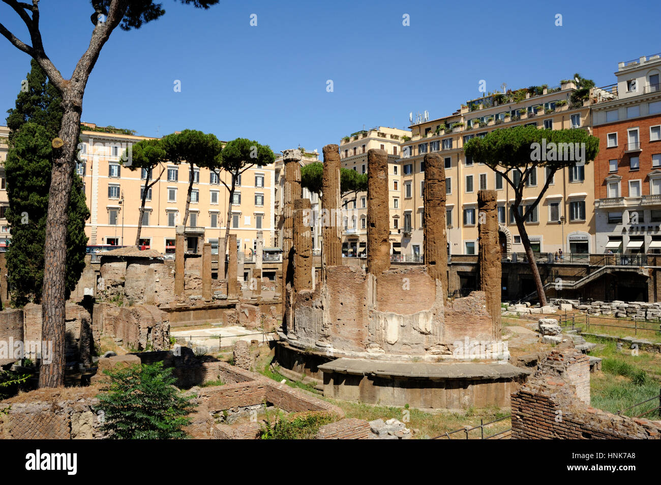 italy, rome, area sacra of largo di torre argentina, temple B (2nd century BC) Stock Photo