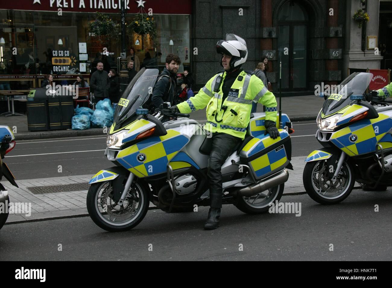 Police Motocycle Stock Photo
