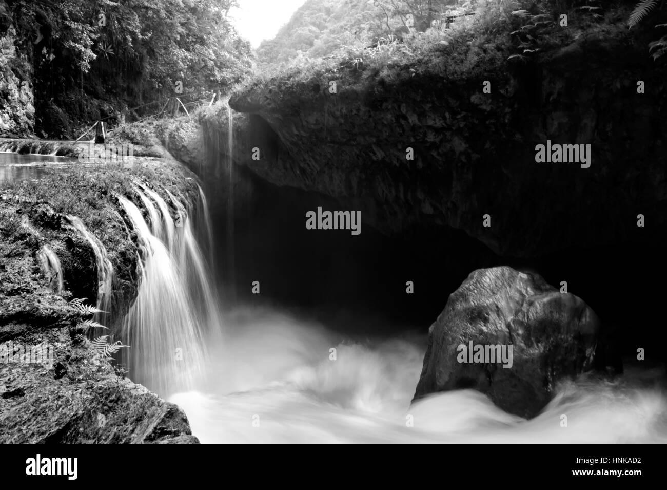 Semuc Champey, landscape in Guatemala - Stock Image