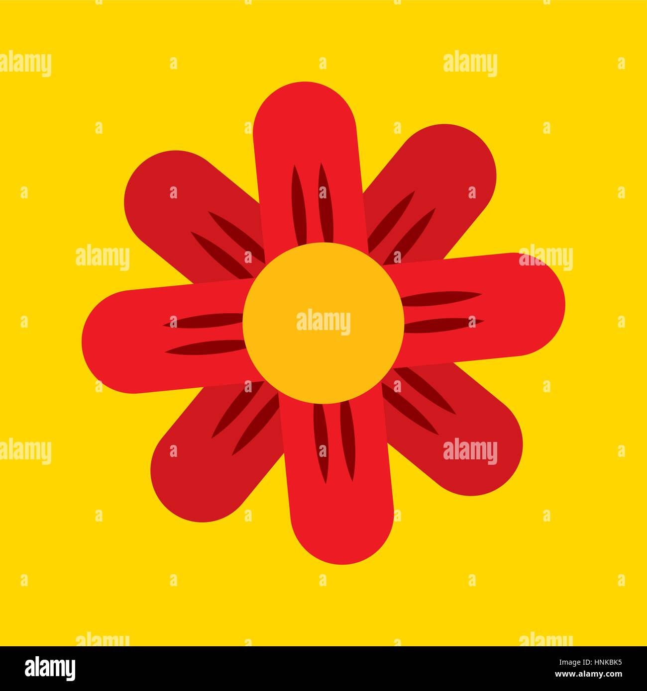 Beautiful Flower Icon Over Yellow Stock Photos Beautiful Flower
