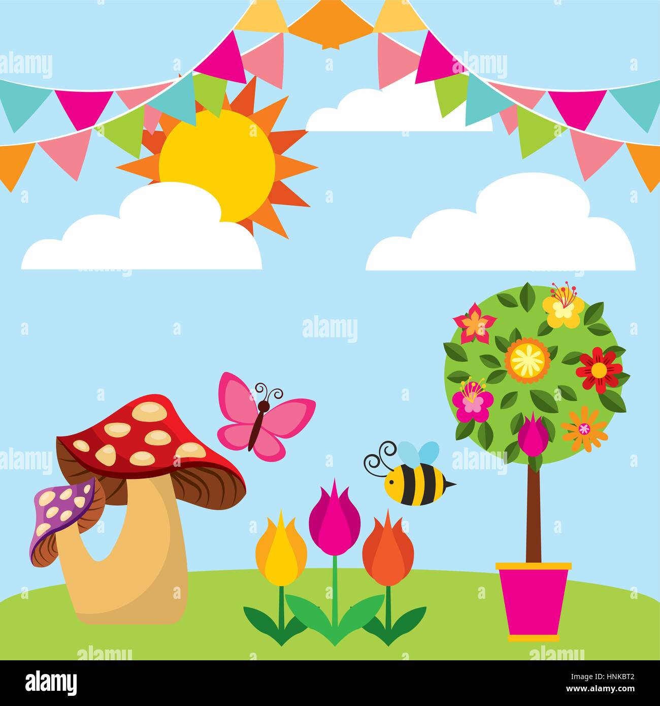 tree with flowers and fungus over garden background colorful design stock vector image art alamy https www alamy com stock photo tree with flowers and fungus over garden background colorful design 133806738 html