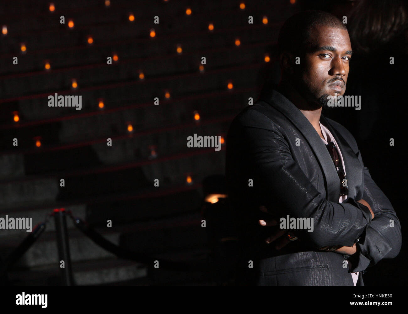 Musician Kanye West attends the Vanity Fair party for the 2009 Tribeca Film Festival at the State Supreme Courthouse - Stock Image