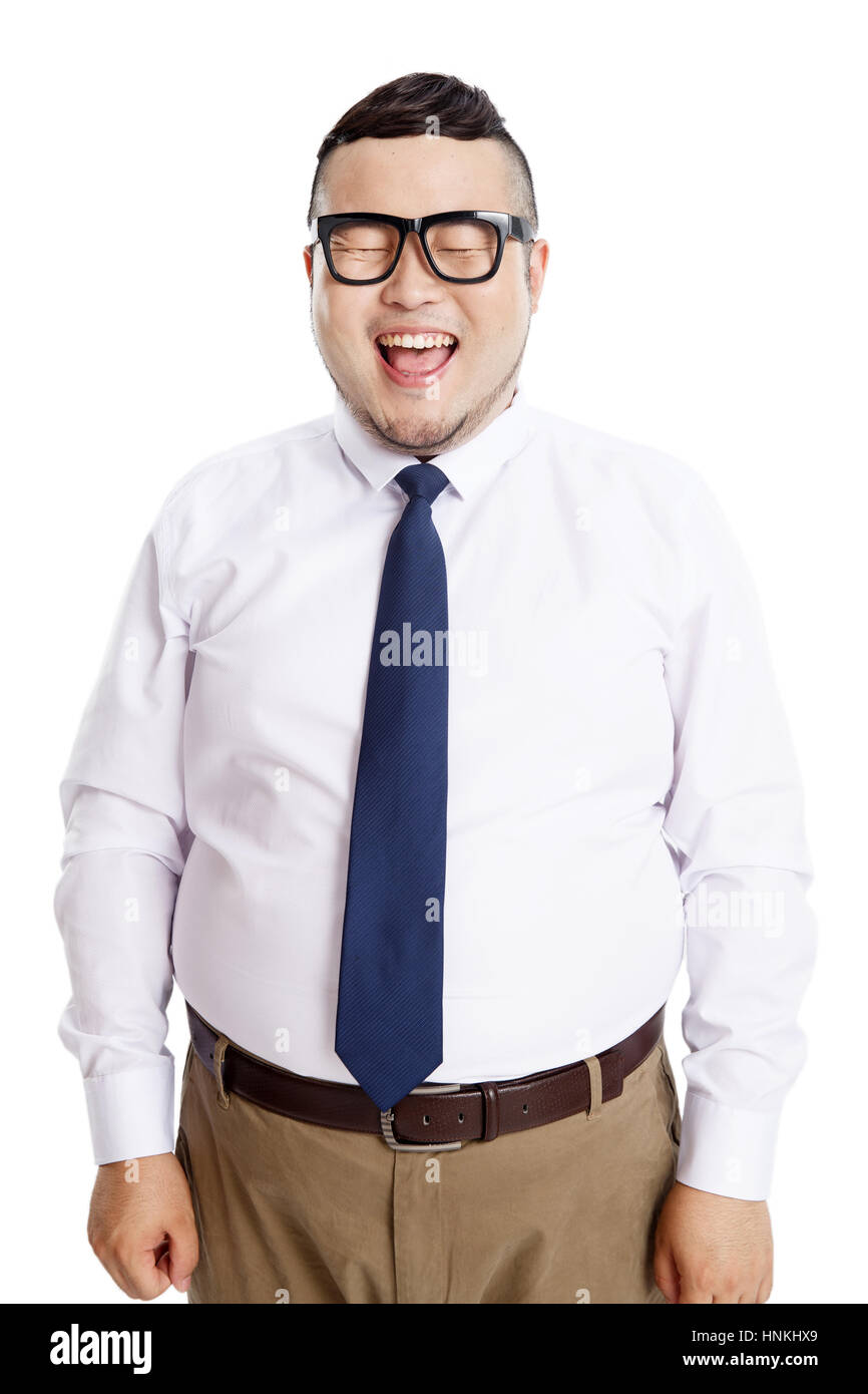 Fat man dressed well How to
