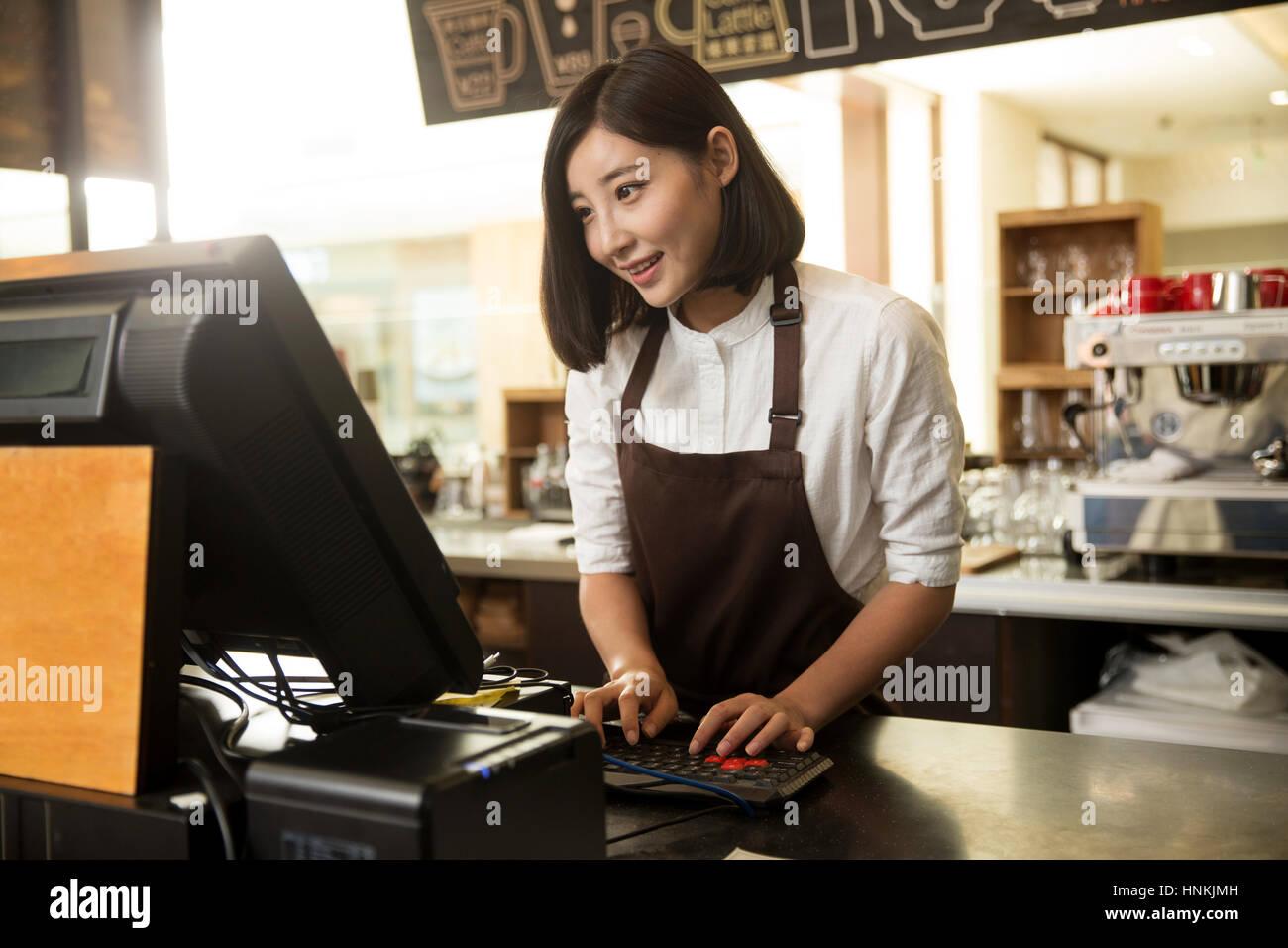 Cafe Cashier Stock Photo 133812129