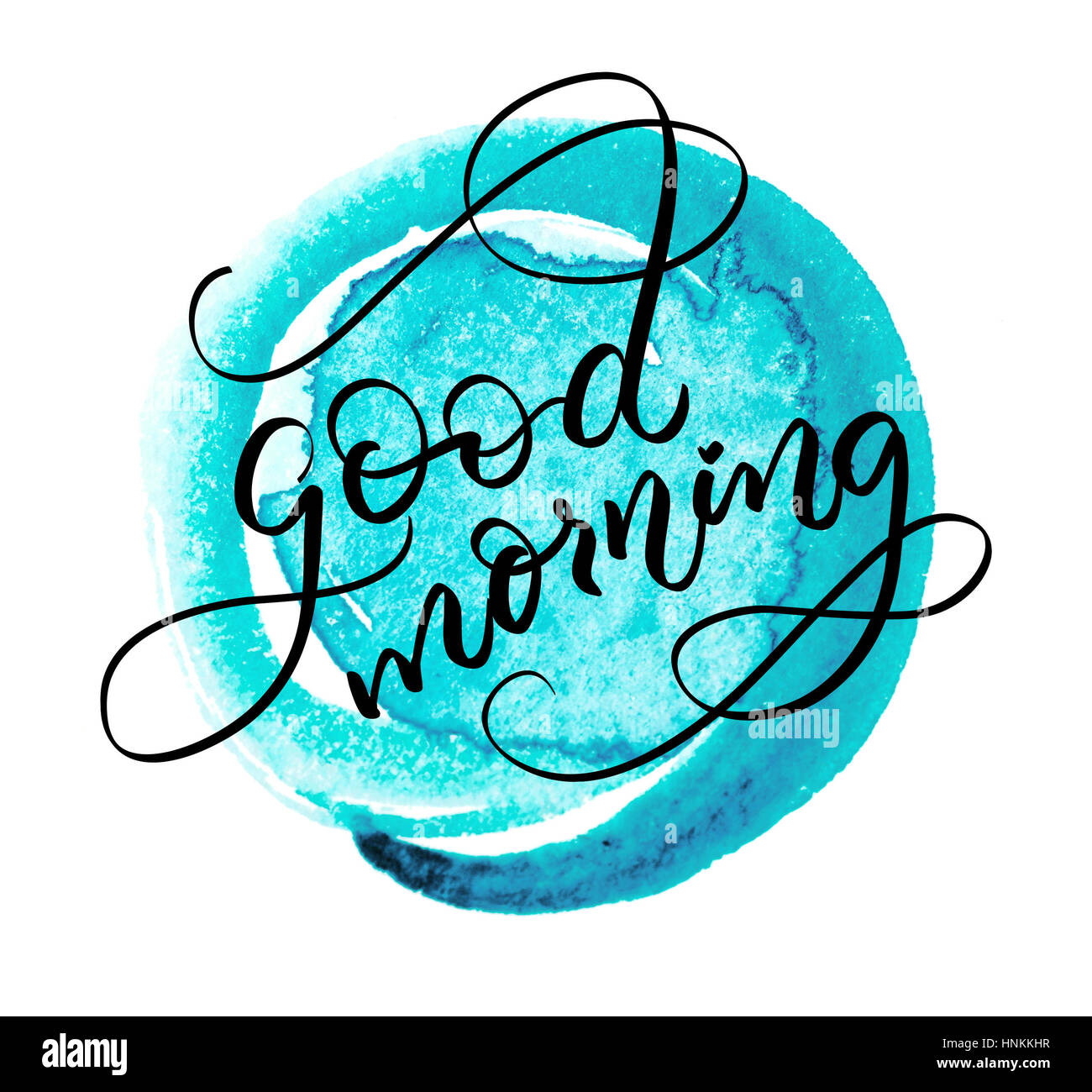 Abstract Background And The Words Good Morning Calligraphy