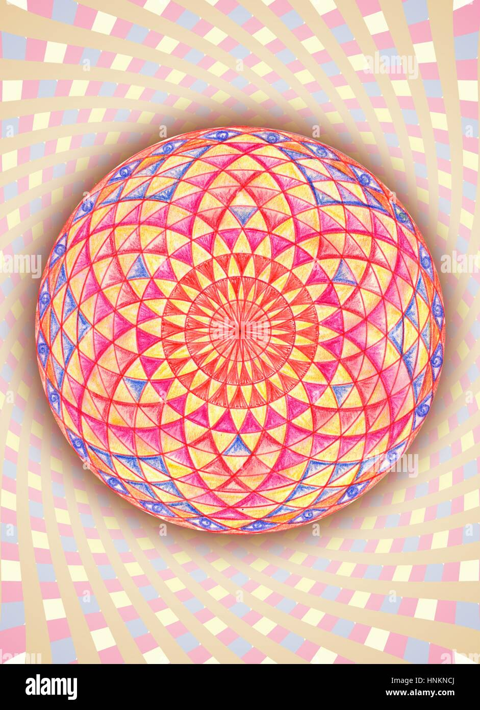 Sacred geometry is one of the seven languages of God, one of the seven codes.This language is not understood by - Stock Image