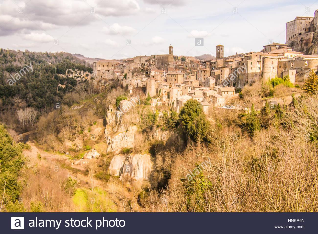 Sorano, Grosseto province, Tuscany, Italy - Stock Image