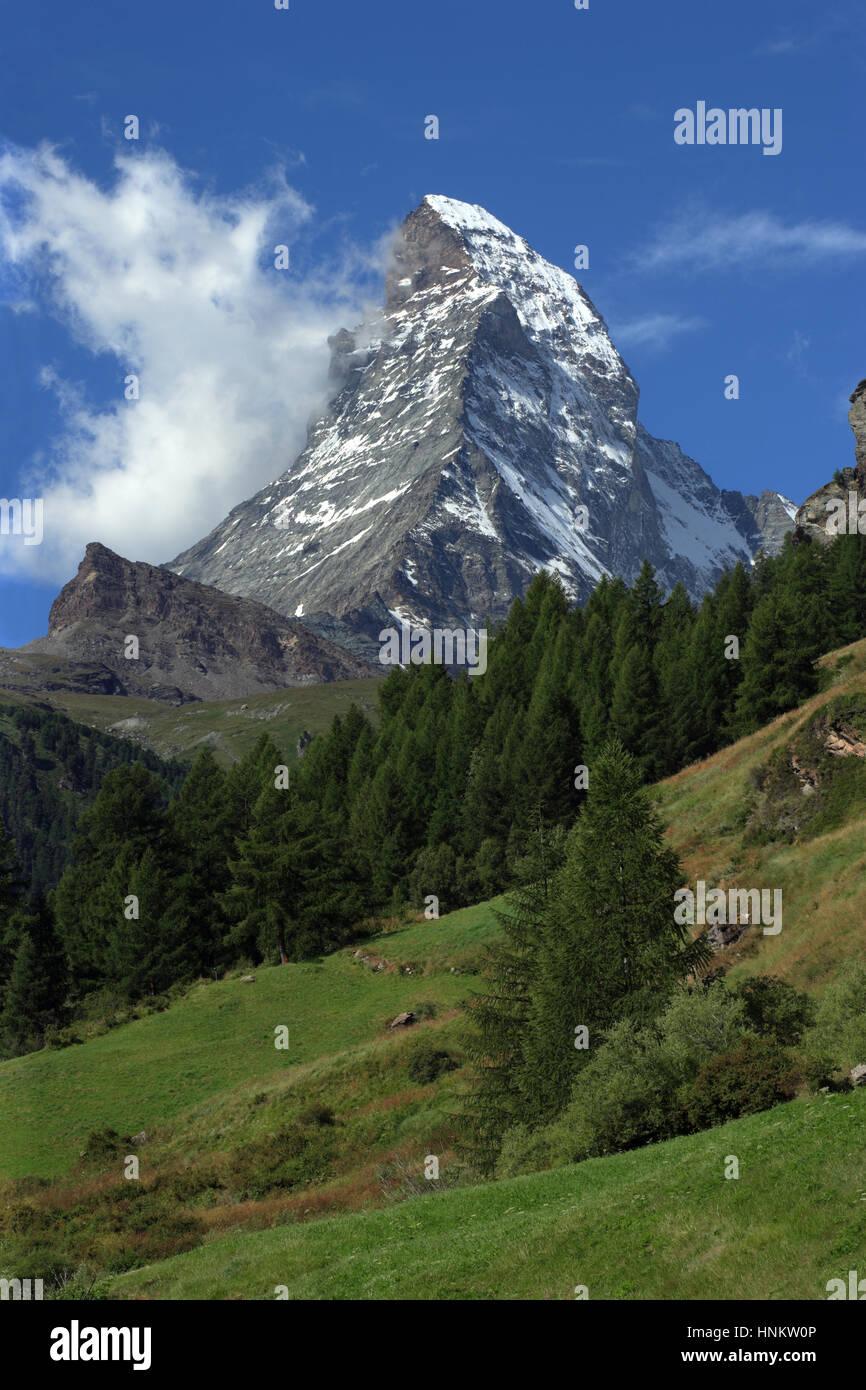 Photo of the Matterhorn in Zermatt, Switzerland. - Stock Image
