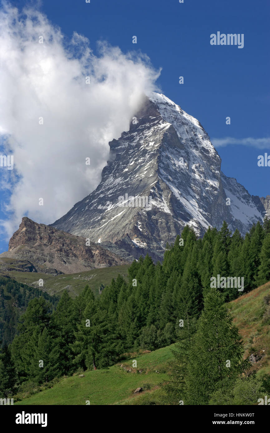 Photo of the Matterhorn in Switzerland. - Stock Image