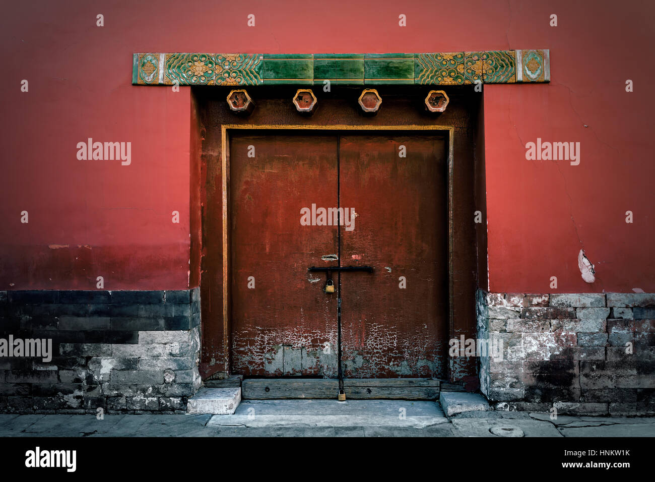 Door at the Forbidden City Was the Chinese Imperial Palace from the Ming dynasty to the end of the Qing dynasty. Beijing China Photo taken on 2nd D & Door at the Forbidden City Was the Chinese Imperial Palace from the ...