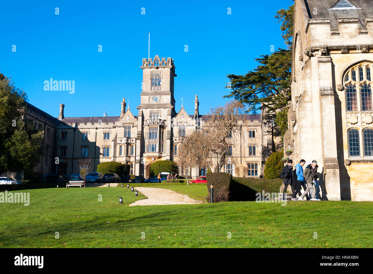 Kingswood School Bath, Somerset, England. Frontage architecture - Stock Image