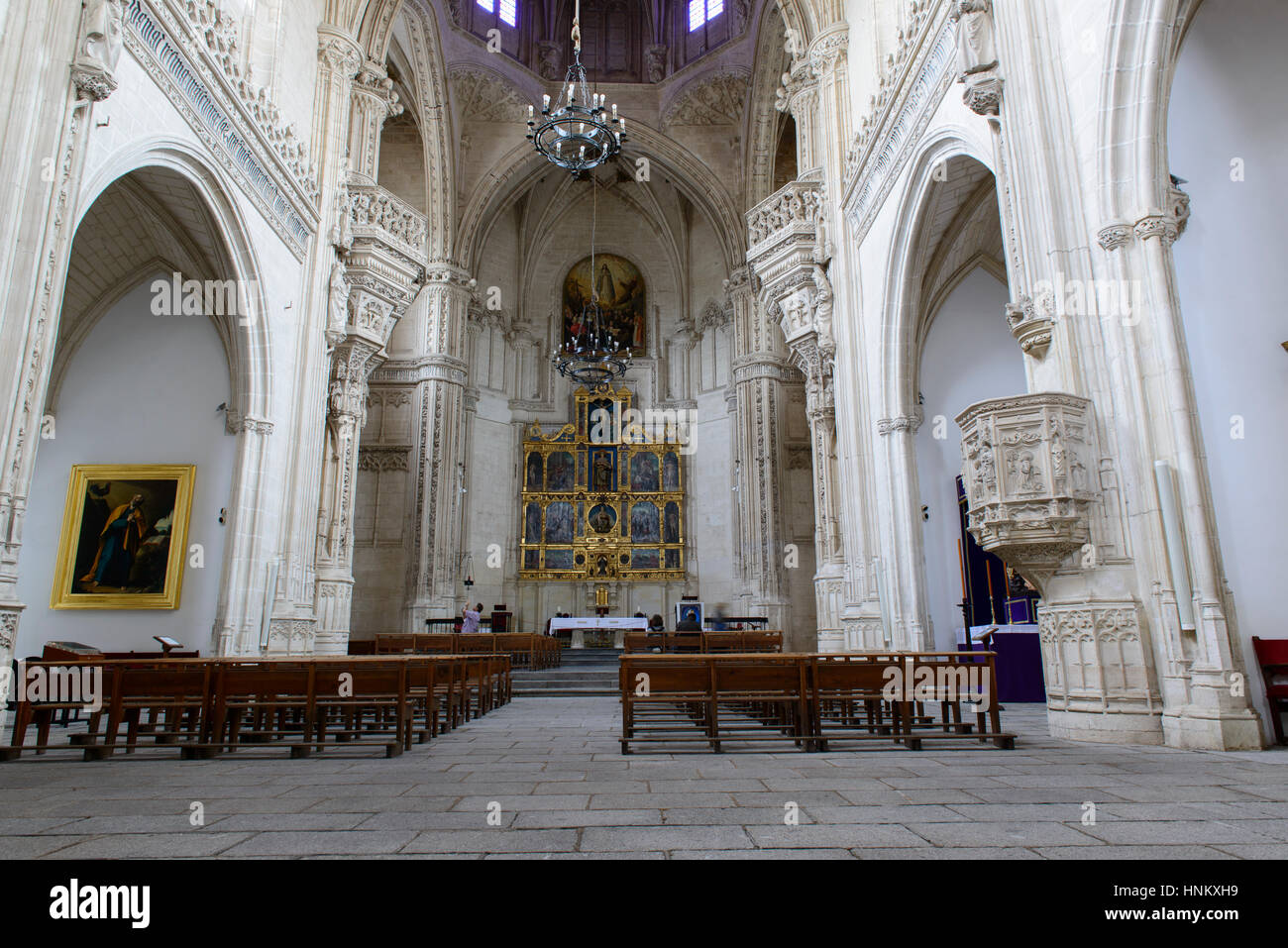 Toledo , Spain.The Monastery of San Juan de los Reyes. The main chapel. - Stock Image