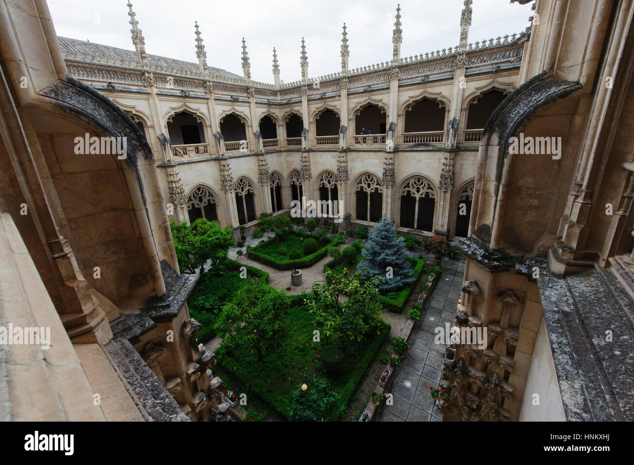 Toledo , Spain.The Monastery of San Juan de los Reyes. The cloister - Stock Image