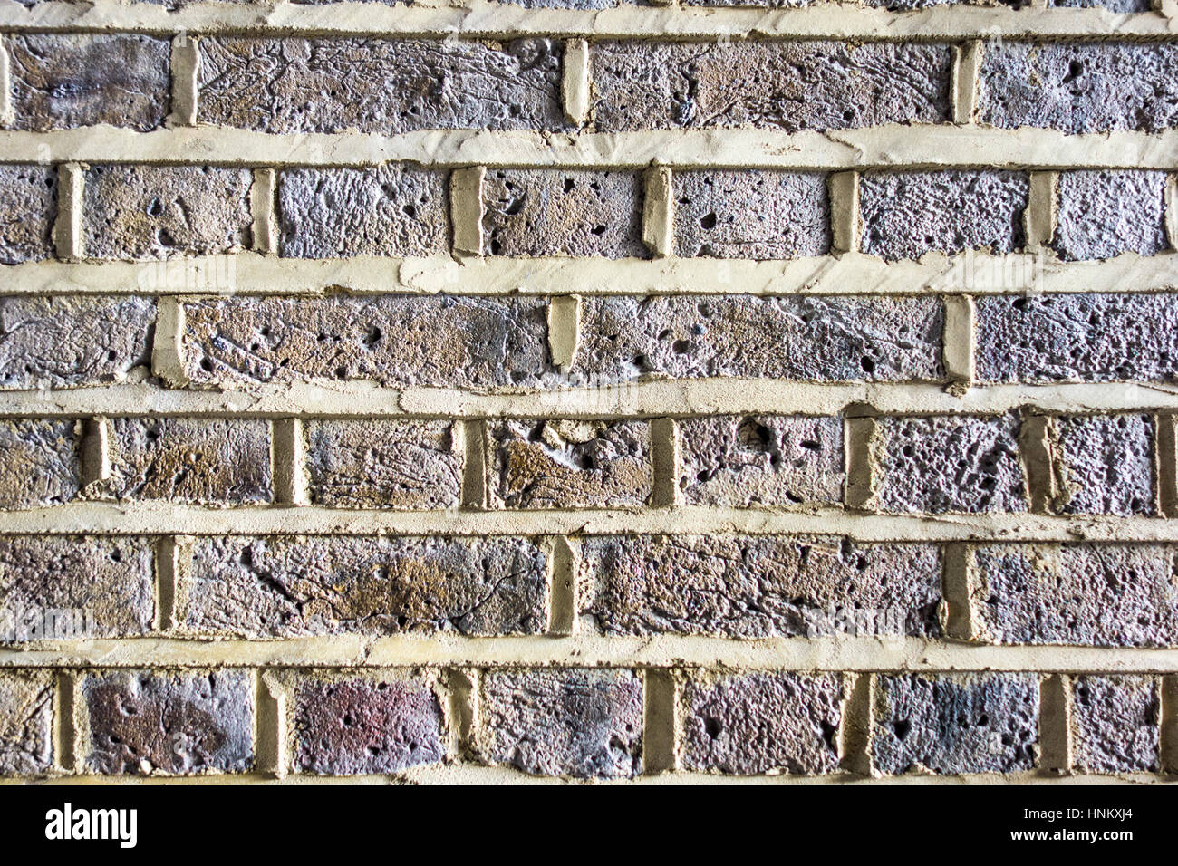 Brick wall with new proud pointing. London, UK - Stock Image