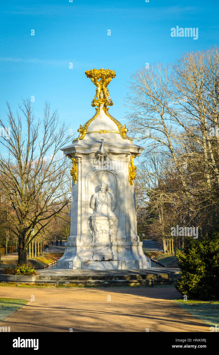 Beethoven Haydn Mozart Memorial 1904. memorial to the classical composers by Rudolf and Wolfgang Siemering. Tiergarten, - Stock Image