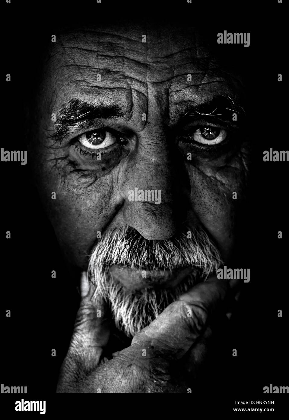Senior man portrait - Stock Image