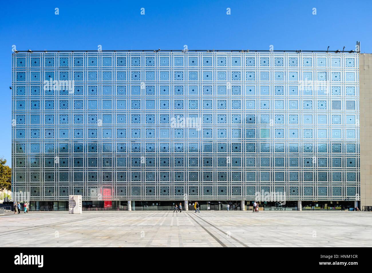 France, Paris,  Institut du monde arabe - Stock Image