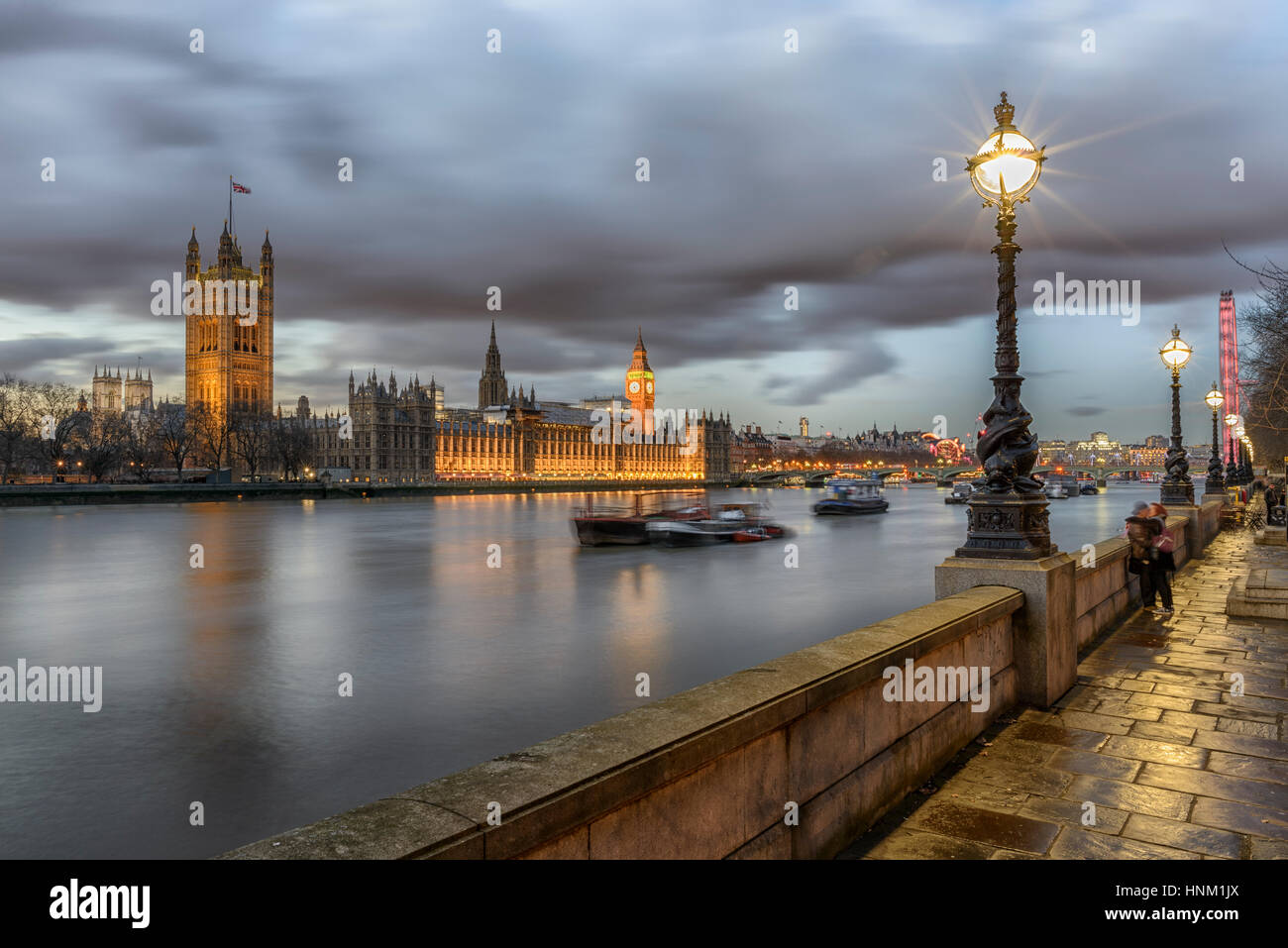 The Houses of Parliament, Westminster,London,England - Stock Image