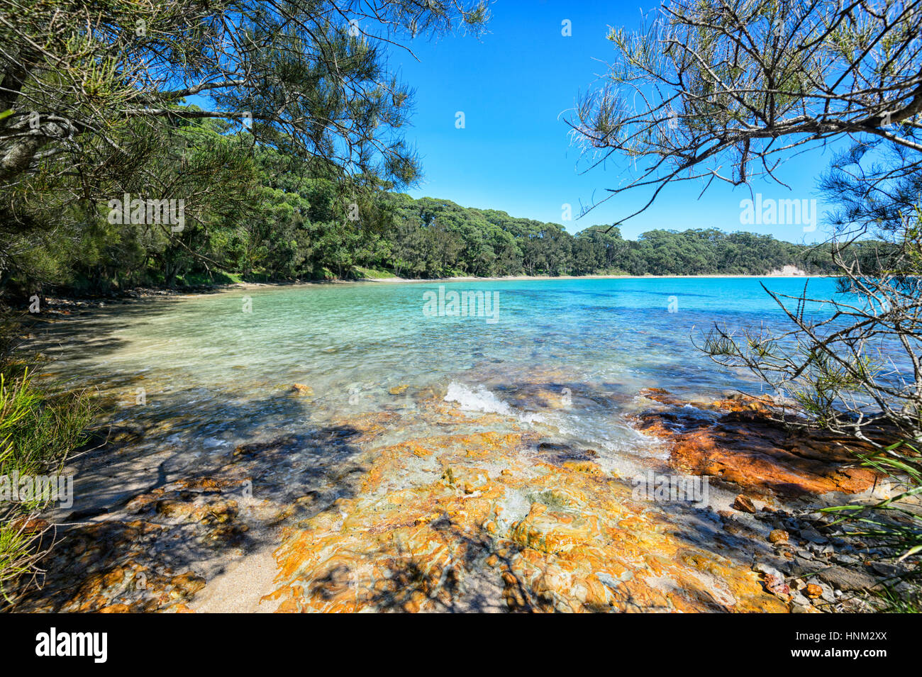 The scenic South Coast at Bendalong, Red Point, Conjola National Park, Shoalhaven, New South Wales, NSW, Australia Stock Photo