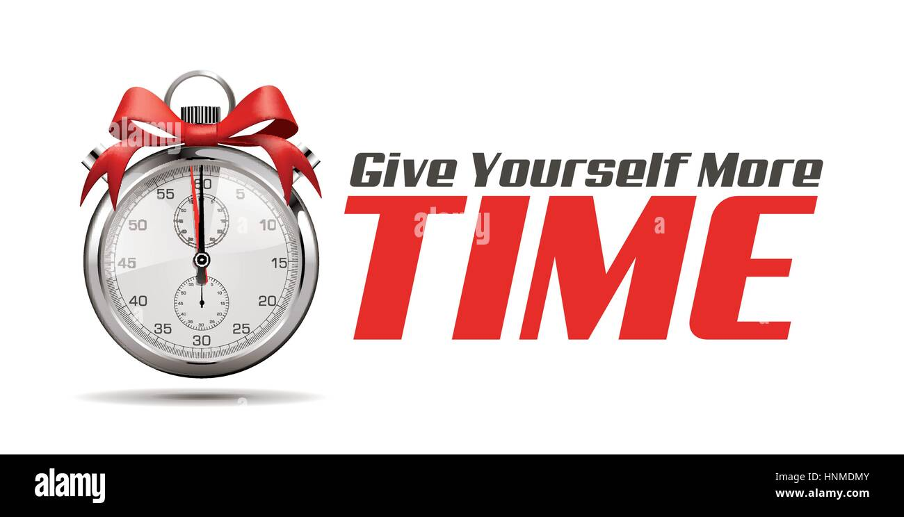 Give yourself more time - Stopwatch concept - Stock Vector
