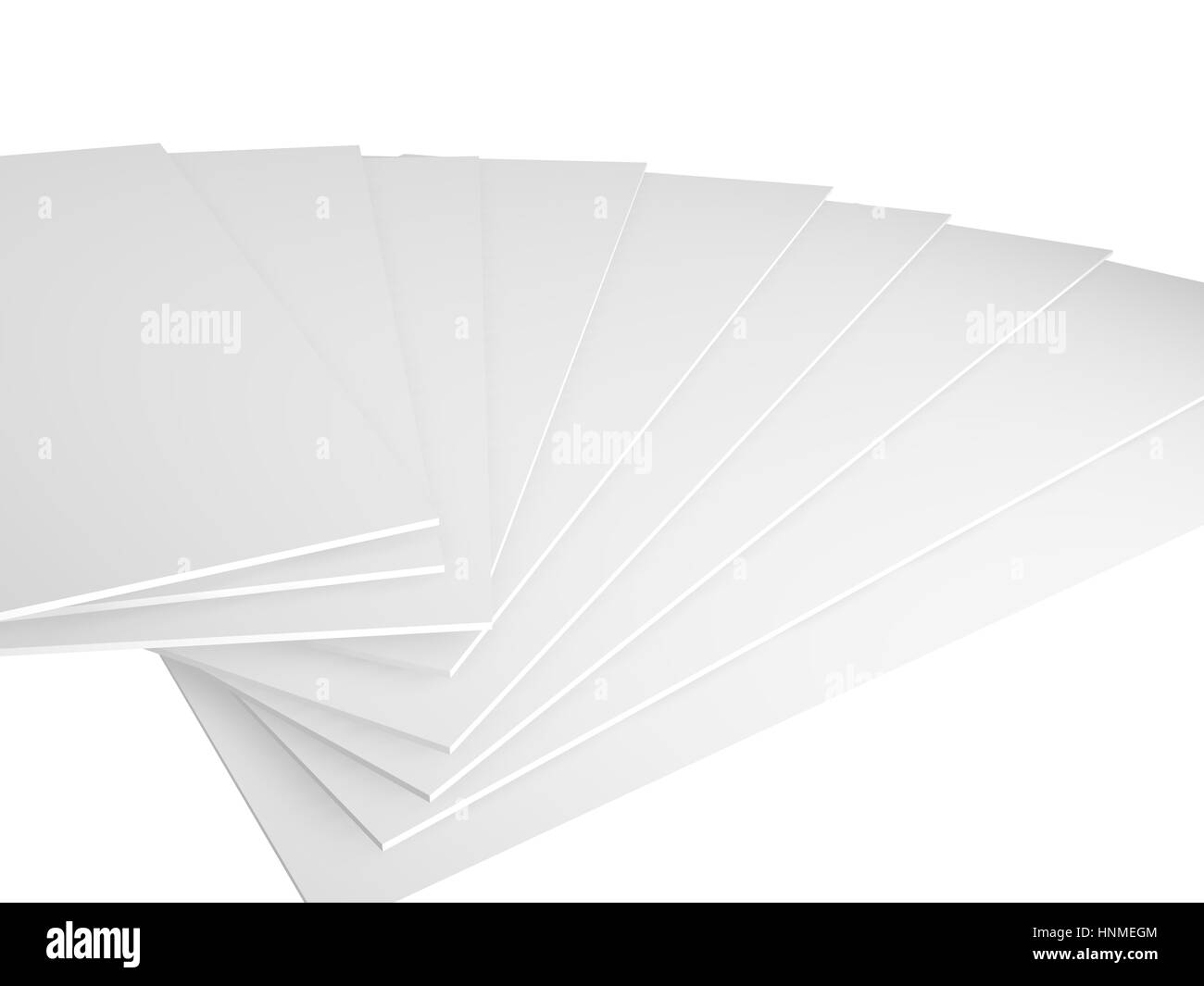 3d render on a white background, empty ready for message - Stock Image