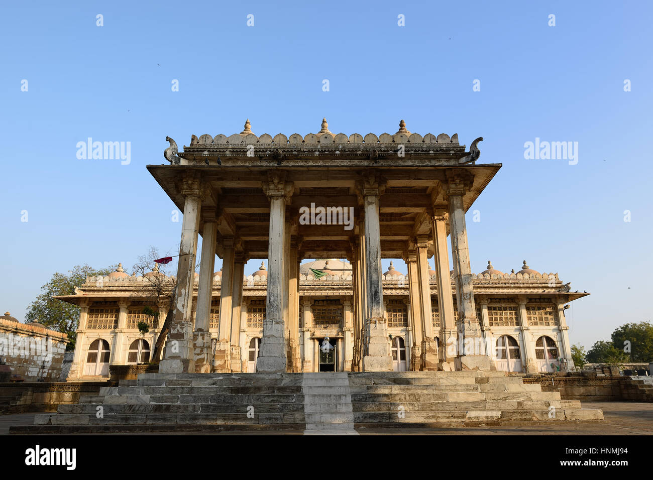 Sarkhej Roza is a located in the village of Makaraba, near  Ahmedabad in Gujarat state, India. The picture presents - Stock Image