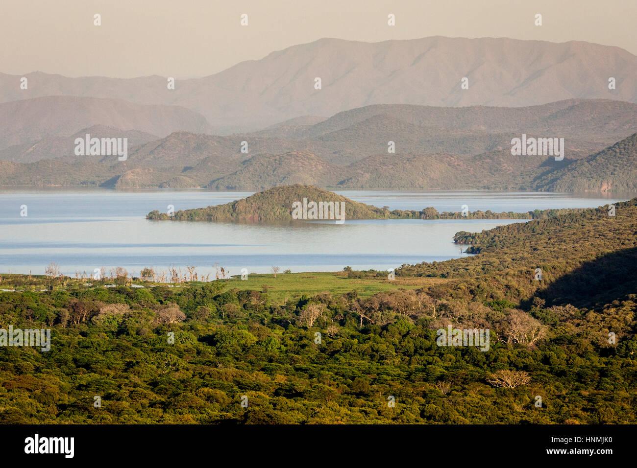 Lake Abaya, Nechisar National Park, Arba Minch, Ethiopia Stock Photo