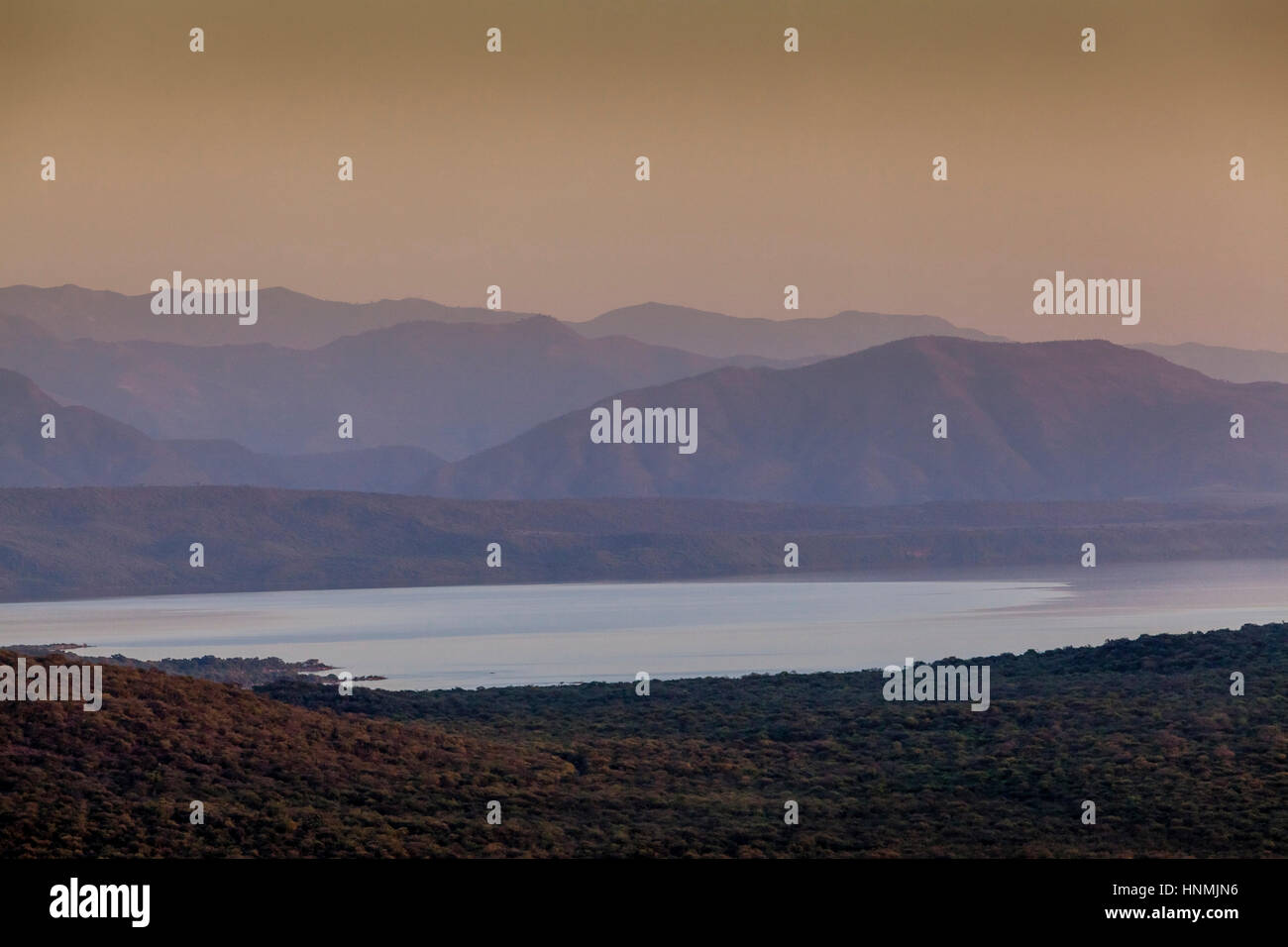 Lake Chamo, Nechisar National Park, Arba Minch, Ethiopia Stock Photo