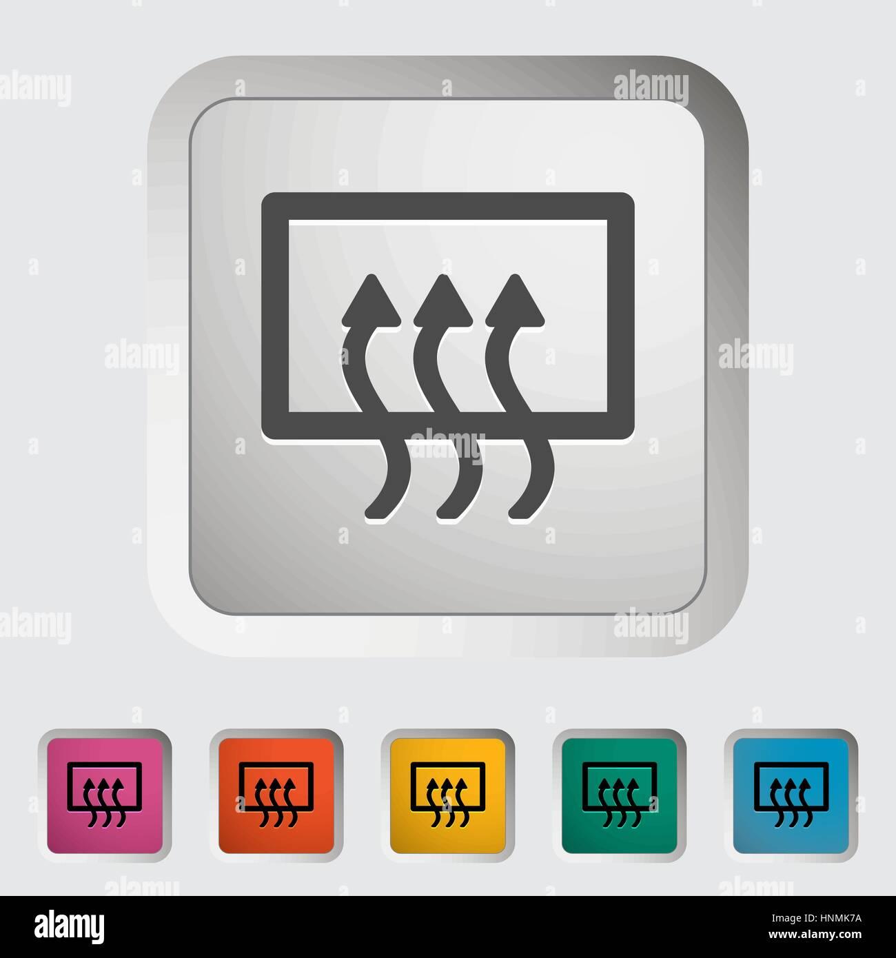 Rear window defrost. Single icon. Vector illustration.. - Stock Vector