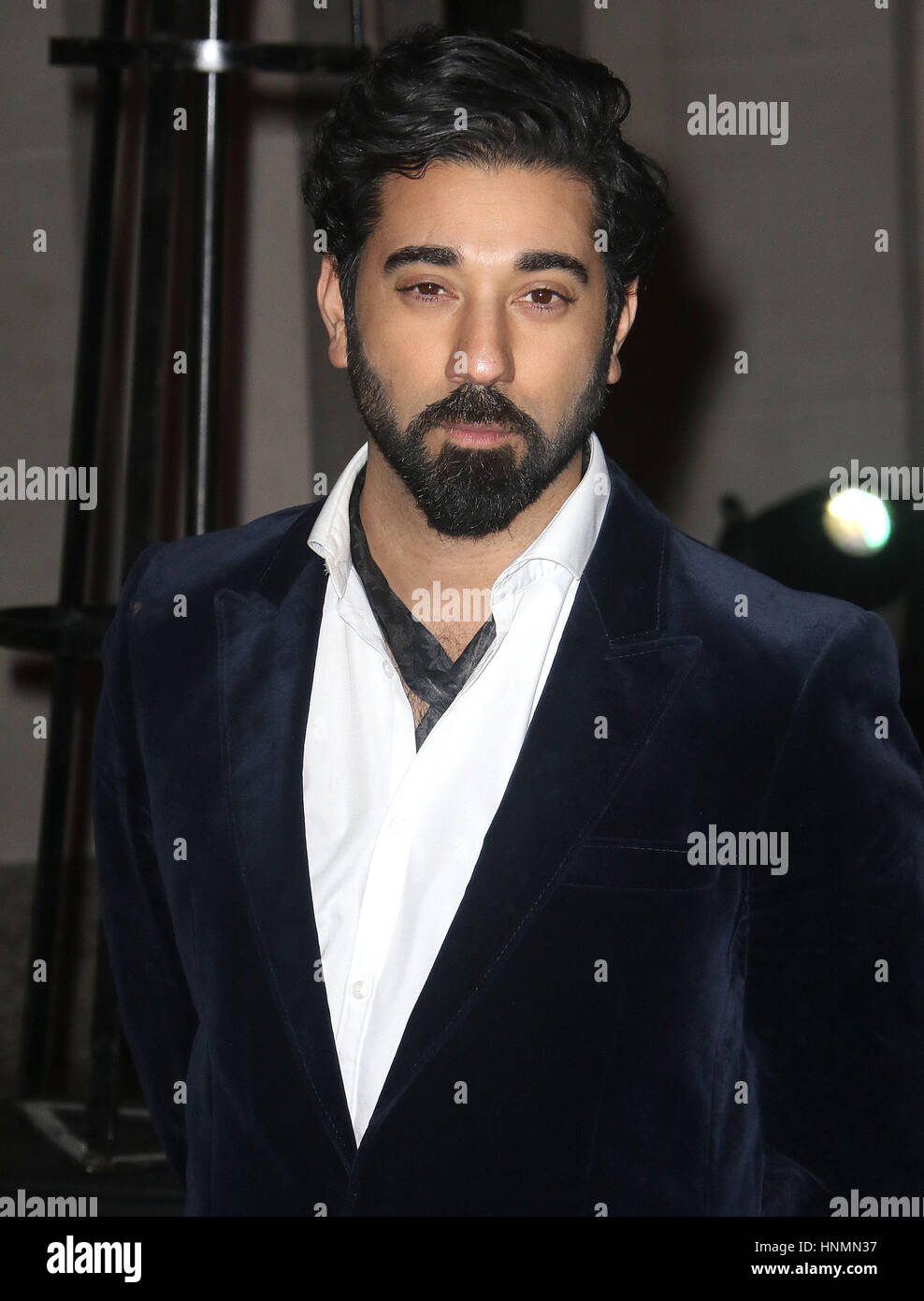 Feb 02, 2017  - Ray Panthaki attending The British Asian Trust reception and dinner, Guildhall - Red Carpet Arrivals - Stock Image