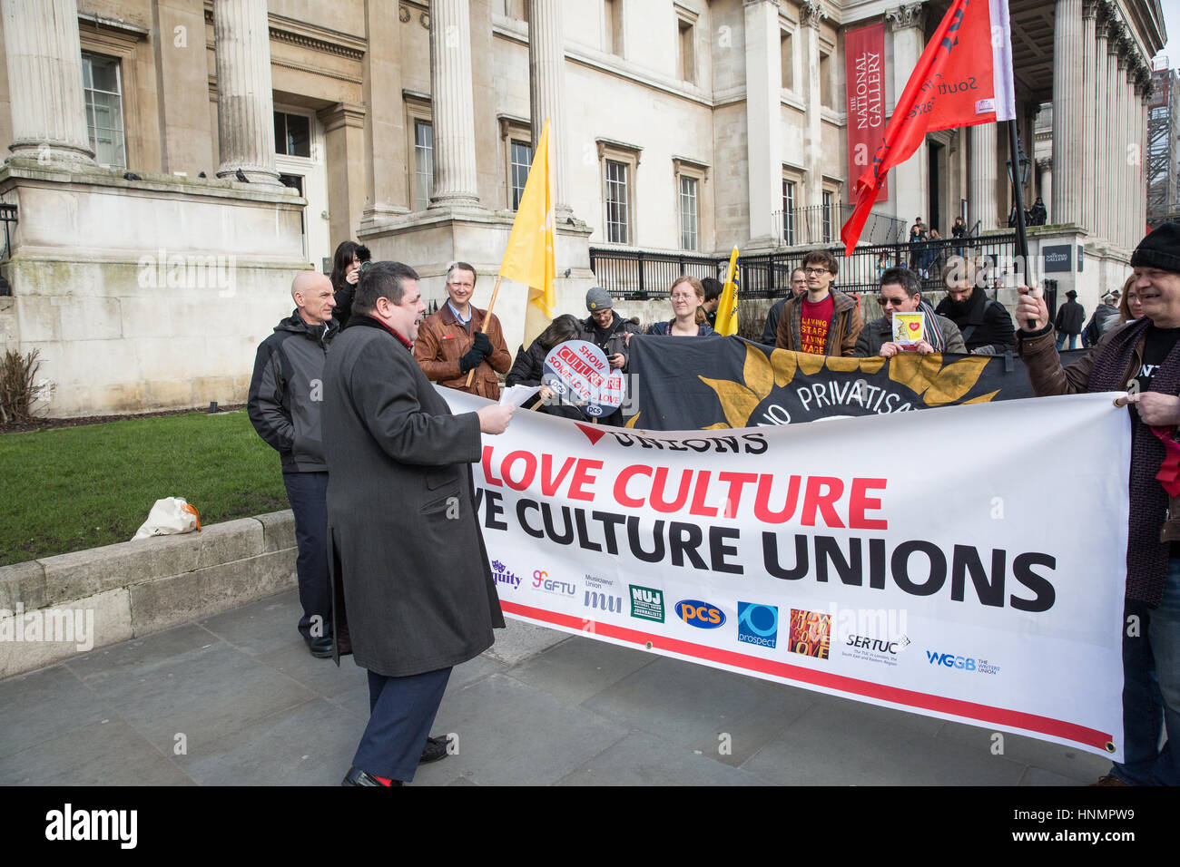 London, UK. 14th Feb, 2017. Punk poet Tim Wells performs for trade unionists and supporters from the Show Culture - Stock Image