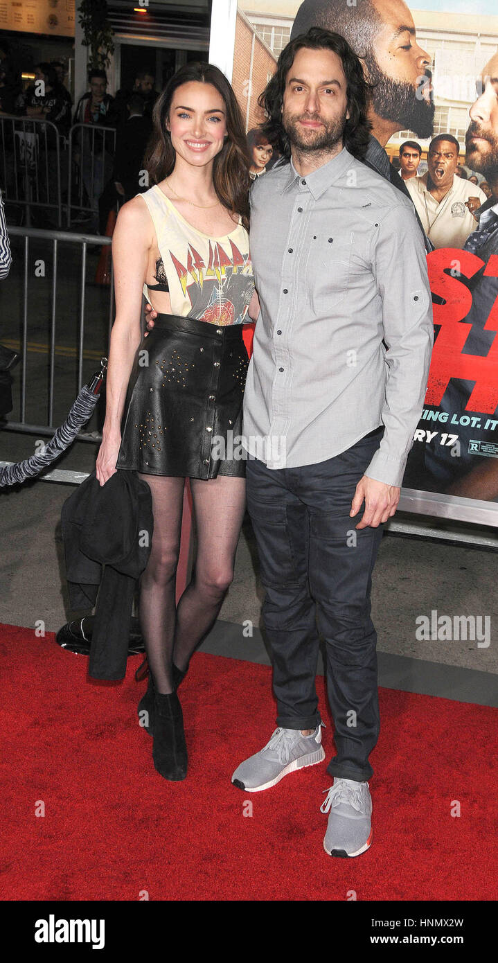 Los Angeles, California, USA. 13th Feb, 2017. Actor CHRIS D'ELIA, CASSI COLVIN at the ''Fist Fight'' - Stock Image