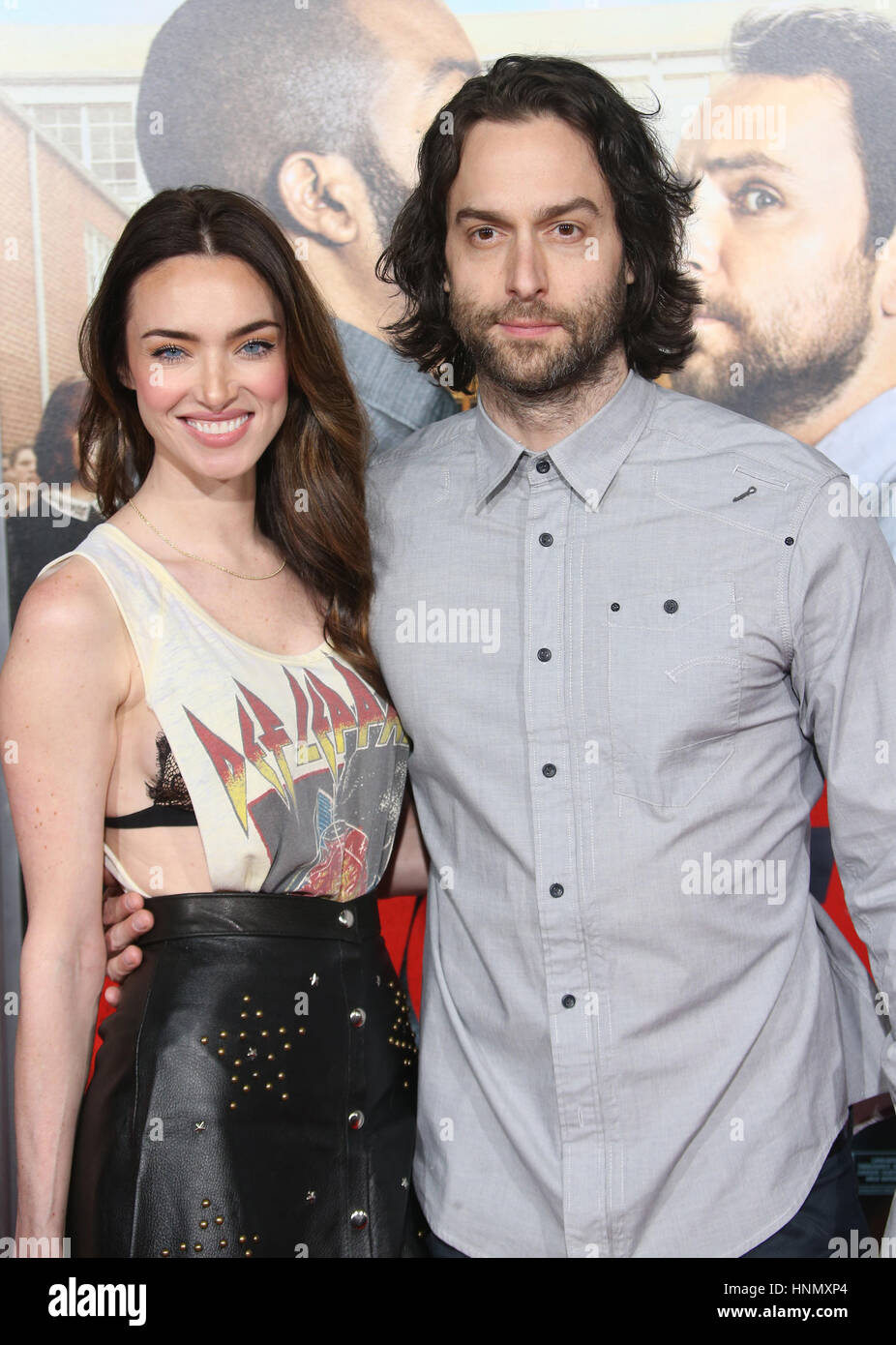 Westwood, California, USA. 13th Feb, 2017. Cassi Colvin, Chris D'Elia. ''Fist Fight'' Los Angeles - Stock Image