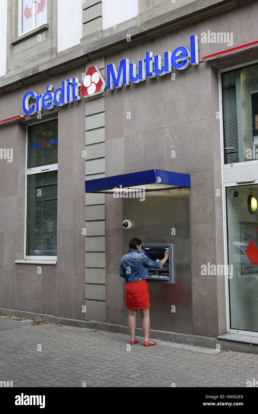 A Cash Point For The Credit Mutuel Bank In Strasbourg In