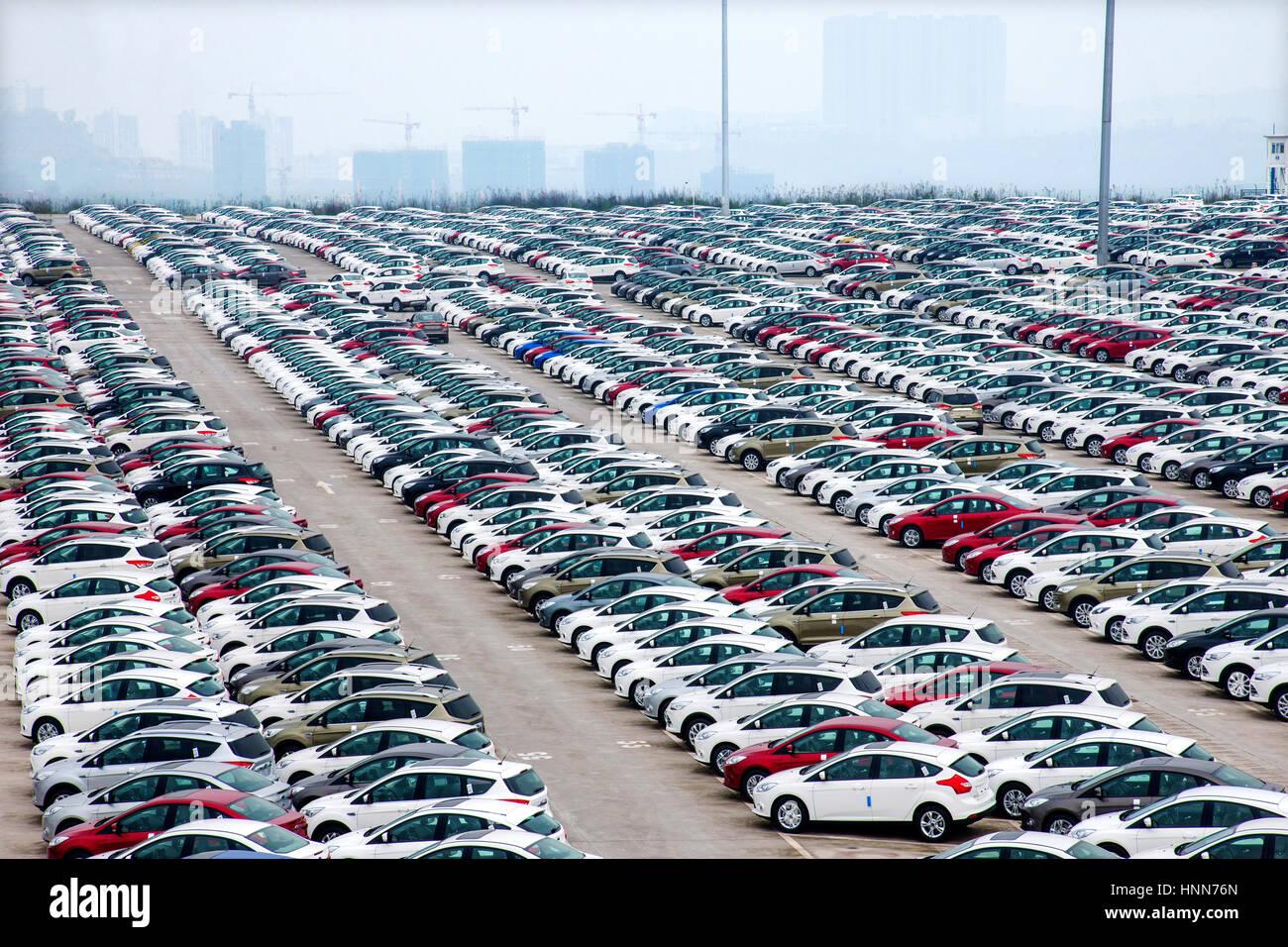 Car parking lot - Stock Image