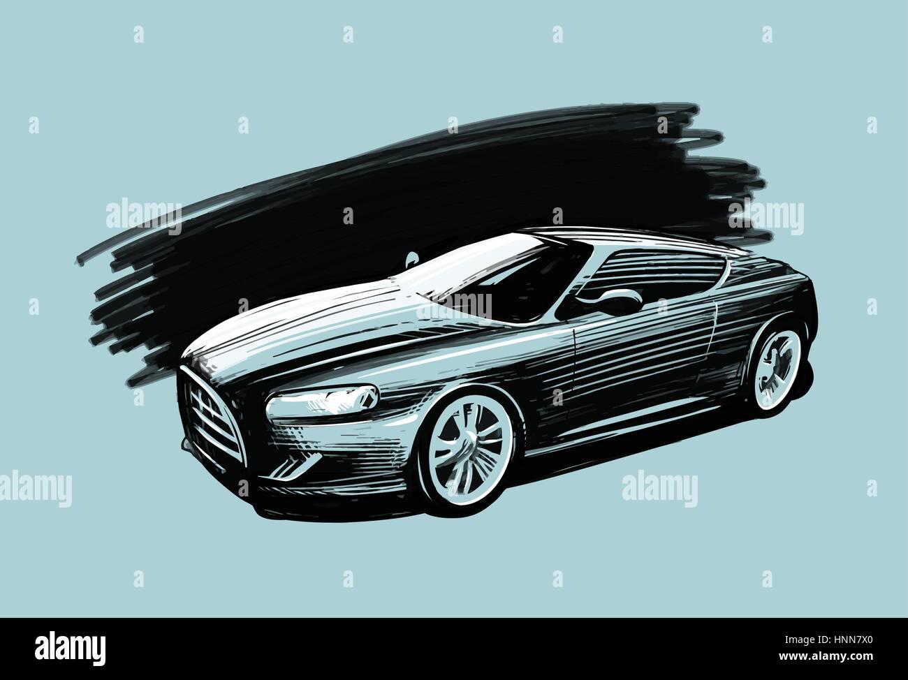 Concept Car Sketch Stock Photos & Concept Car Sketch Stock Images ...