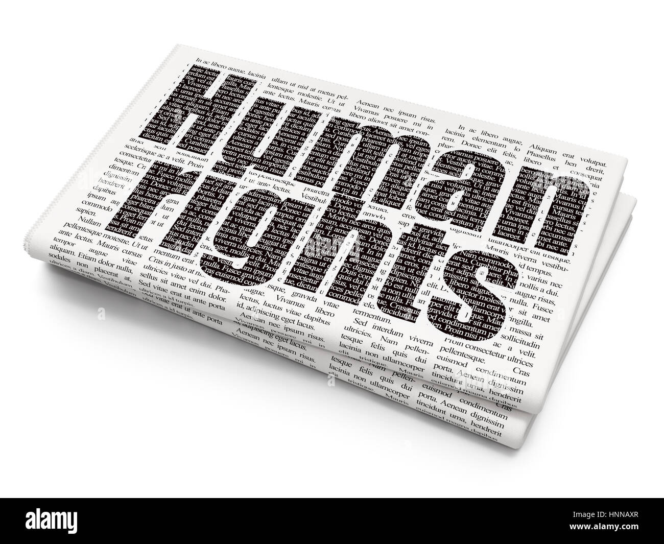 Political concept: Human Rights on Newspaper background Stock Photo ...