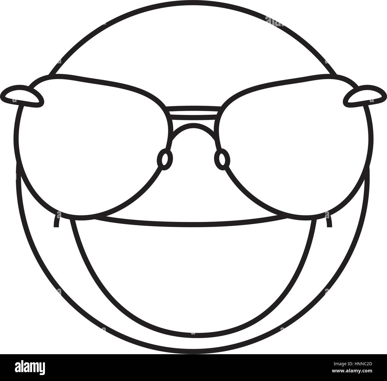 94ae9d30198 Funny emoticon cartoon icon vector illustration graphic design - Stock  Vector