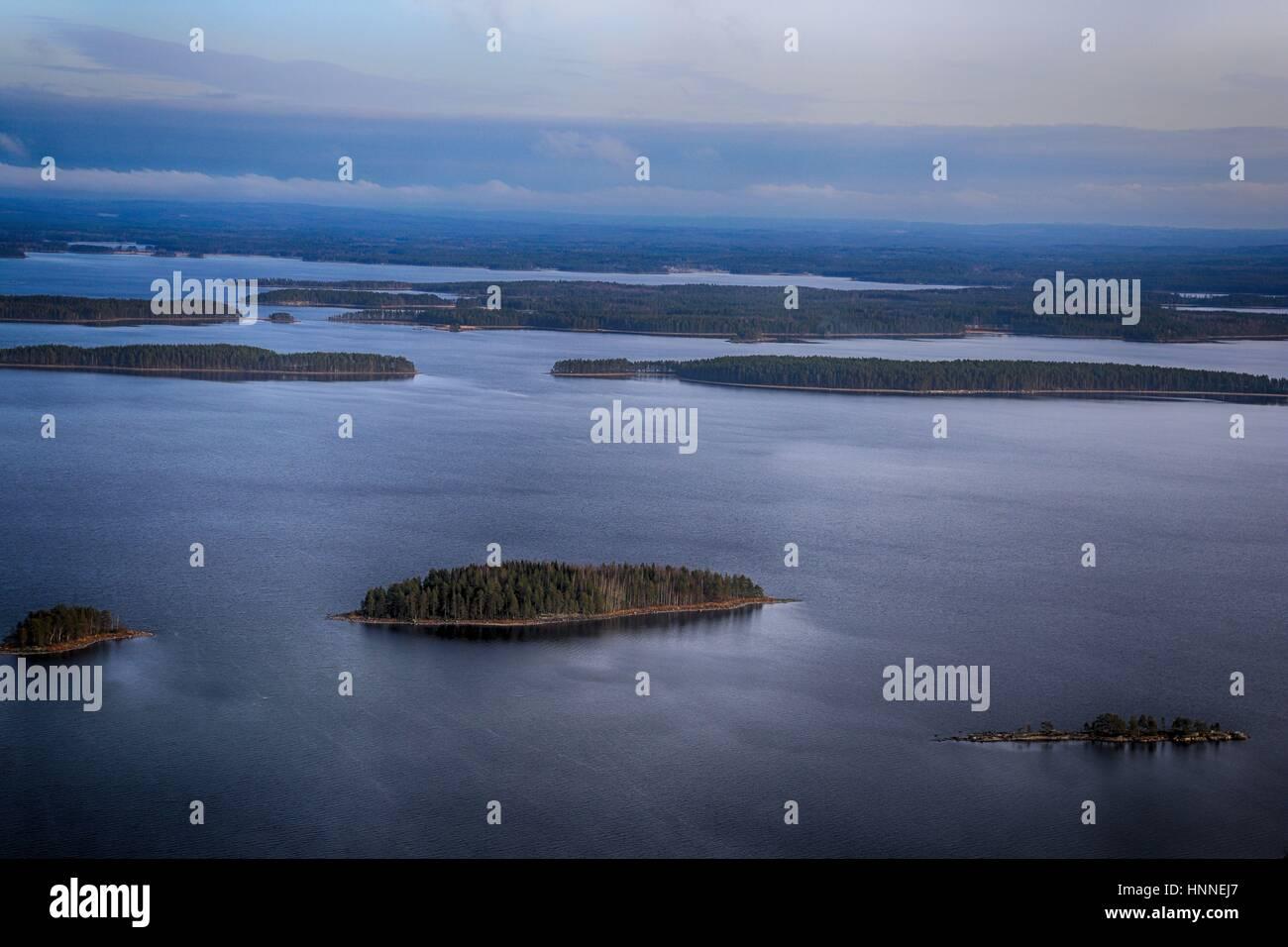 Scenery from Koli National Park (Kolin kansallispuisto) in Finland, North Karelia: Pielinen Lake in Koli National - Stock Image