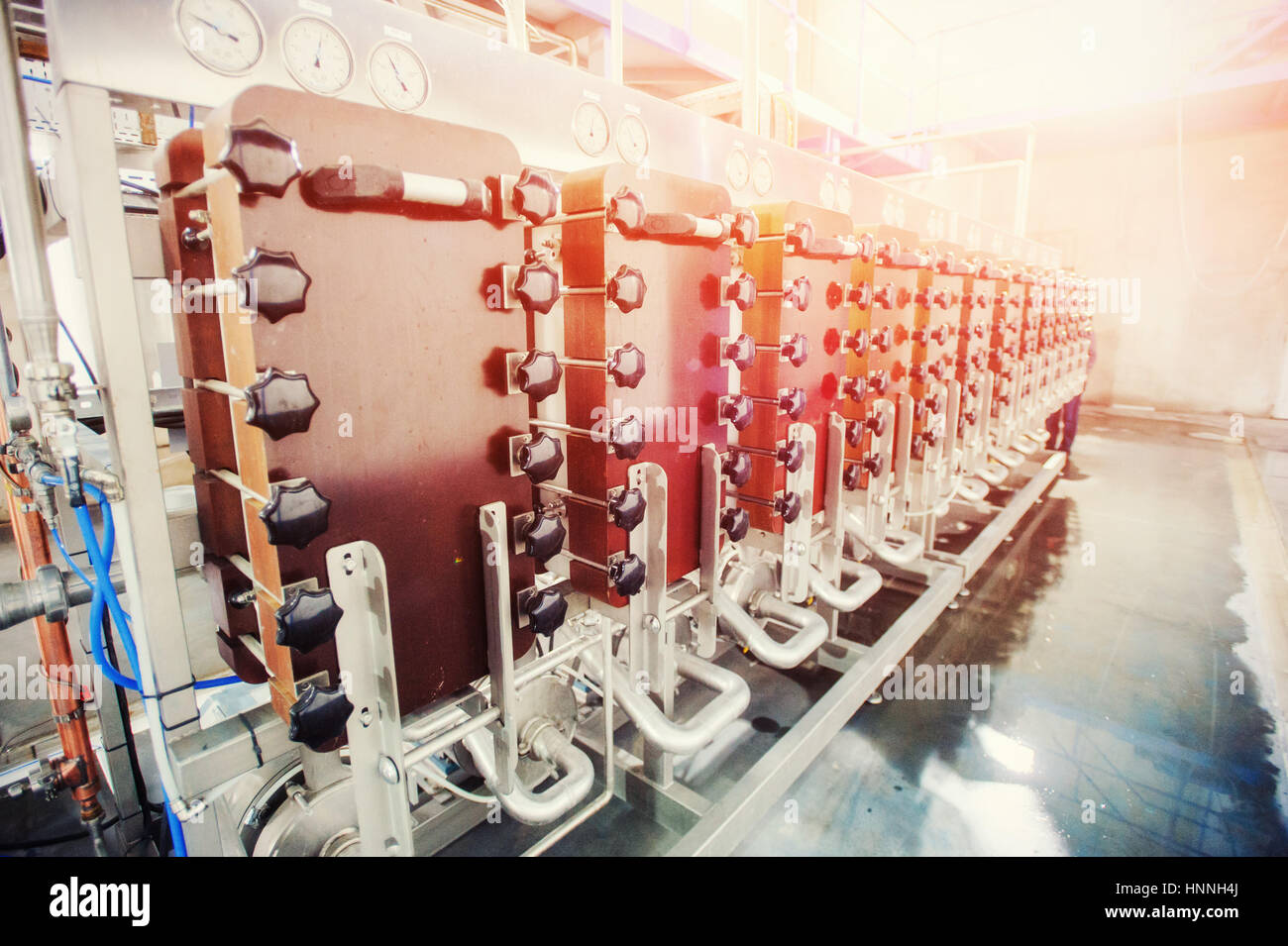 Equipment of the technology for making starch, cleaning and proc - Stock Image