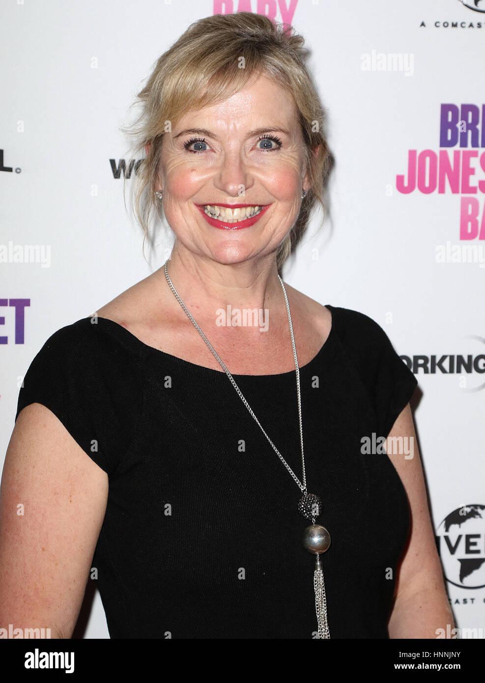 Jan 31, 2017  - Carol Kirkwood attending Bridget Jones's Baby Red Carpet Screening, Charlotte Street Hotel, - Stock Image