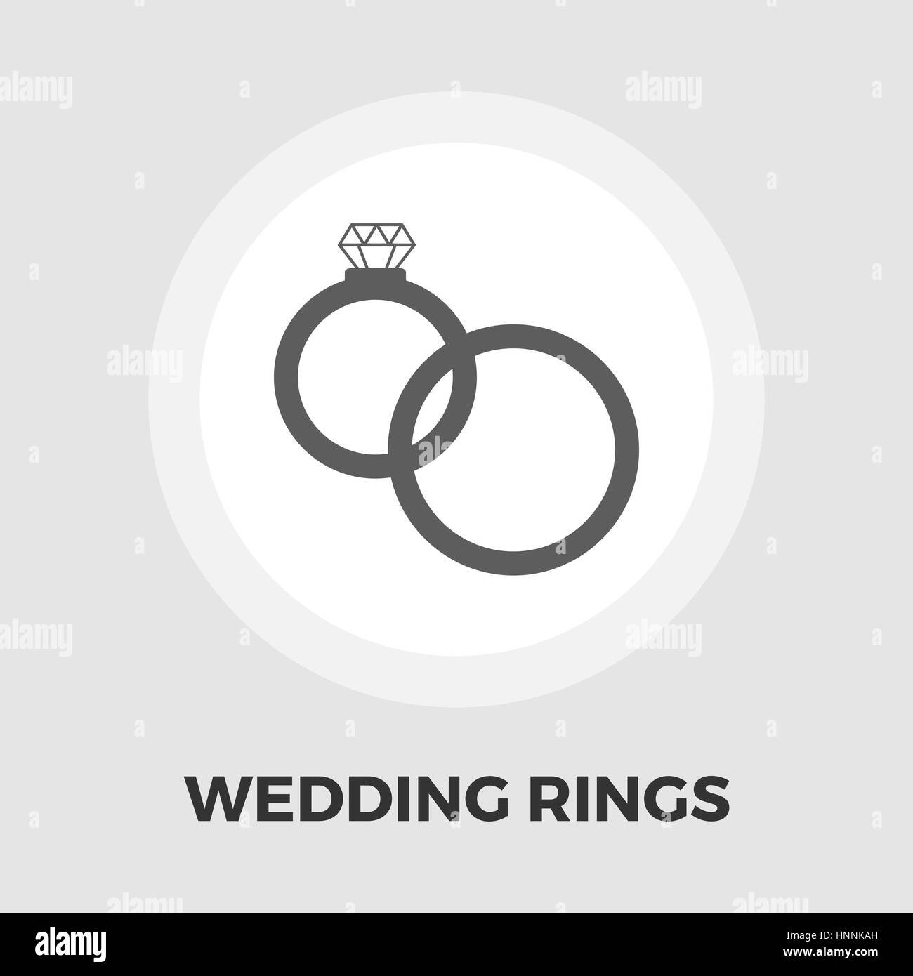 Wedding Rings Icon Vector Flat Icon Isolated On The White Stock