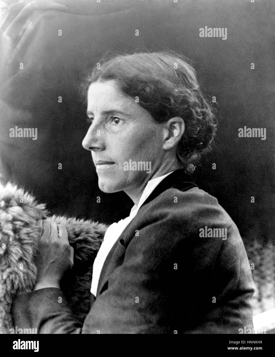 CHARLOTTE PERKINS GILMAN (1860-1935) American social reformer and novelist about 1900 - Stock Image